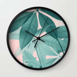 Pachira Aquatica #5 #foliage #decor #art #society6 Wall Clock