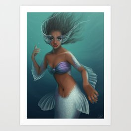 Mystic Mermaid Art Print