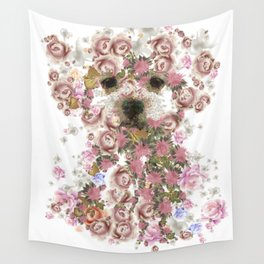 Vintage doggy Bichon frise.DISCOVER Wall Tapestry