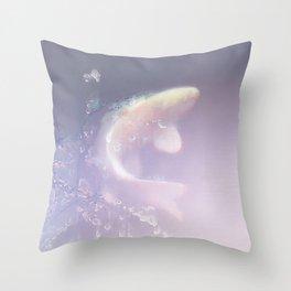 White Koi Throw Pillow