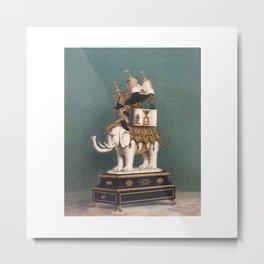 Decorated Elephant Metal Print