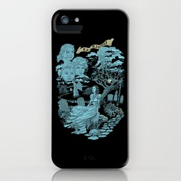 Hispanic Legend La Llorona (blue)  iPhone Case