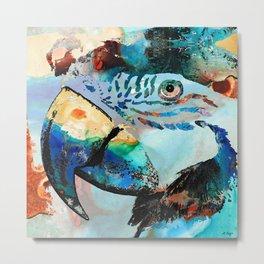 Wild Parrot Art By Sharon Cummings Metal Print
