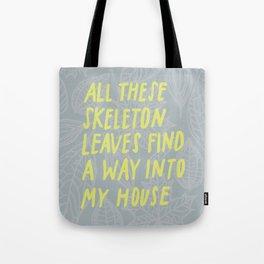 Skeleton Leaves Tote Bag