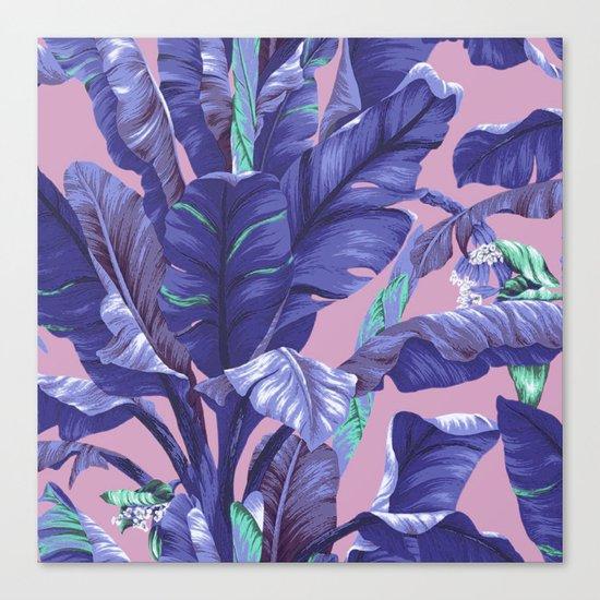 Banana Leaf love Canvas Print