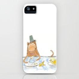 Monkey loves bananas iPhone Case