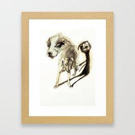 Tristan Corbière, Thick Black Trace, A mon chien Pope Framed Art Print