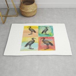 Four Ibis Silhouettes Rug