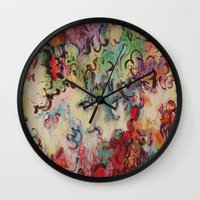 baroque Wall Clocks featuring Baroque by Gertrude Steenbeek