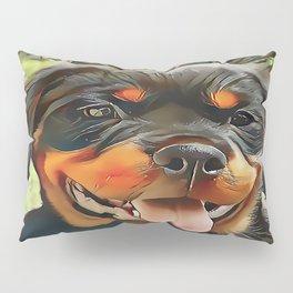 Chubby Rottweiler Puppy Pillow Sham