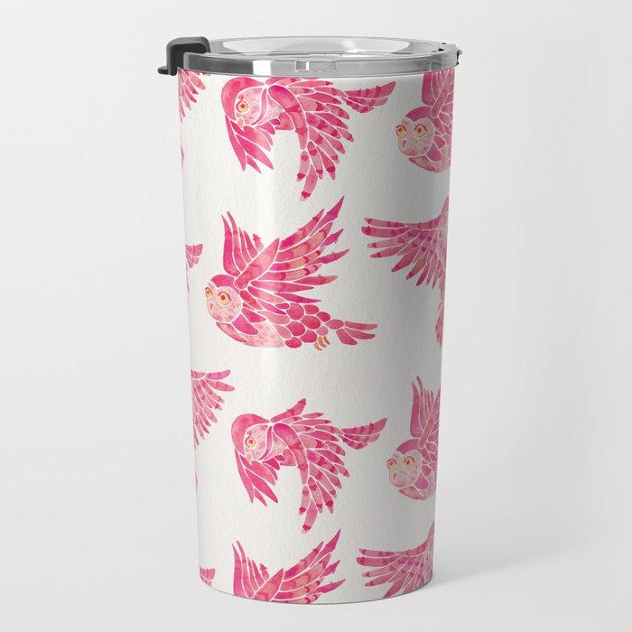 Owls in Flight – Pink Palette Travel Mug