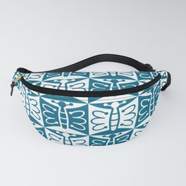 Mid Century Modern Butterfly 771 Peacock Blue Fanny Pack
