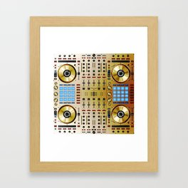 DDJ SX N In Limited Edition Gold Colorway Framed Art Print