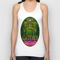astrology Tank Tops featuring Gemini Zodiac Sign Astrology by CAP Artwork & Design