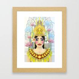 The Meditating Apsara Framed Art Print