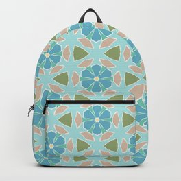 Ginsberg blue geo floral Backpack