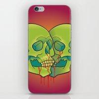 skulls iPhone & iPod Skins featuring Skulls by kellyhalloran