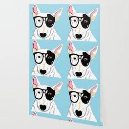 Hipster Bull Terrier Wallpaper