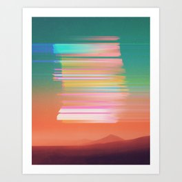 Subsonic Sunset Art Print