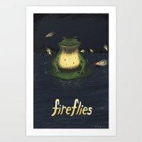 fireflies Art Prints featuring Fireflies by Ken Coleman