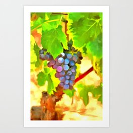 Bunch of Grapes Art Print
