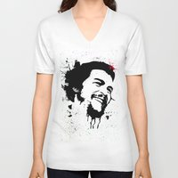 che V-neck T-shirts featuring Che by Cynthia Alvarez