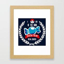 Level 100 Master Framed Art Print