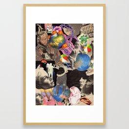 Collage Worlds Inside The Worlds Framed Art Print