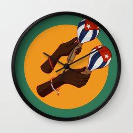 Cuban Maracas Wall Clock