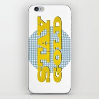 stay gold iPhone & iPod Skins featuring Stay Gold by abominable