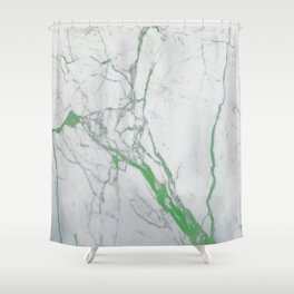 MARBLE GREEN Shower Curtain