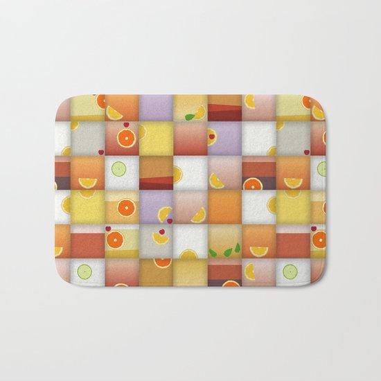 cocktail squares Bath Mat