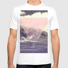 Triangle on Mountains White SMALL Mens Fitted Tee
