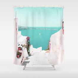 Santorini Sea Shower Curtain