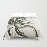 sassy Duvet Covers featuring Sassy Mermaid by OnceUponAWonderland