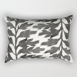 Black Fern Rectangular Pillow
