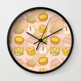 Dimsum everywhere! [peach] Wall Clock