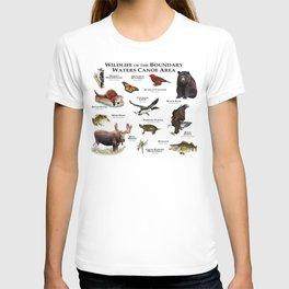 Wildlife of the Boundary Water Canoe Area T-shirt