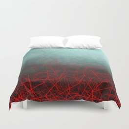 Abstract Boxes Underwater Duvet Cover