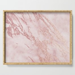 Pink marble Serving Tray