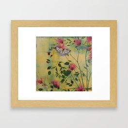 Rice Paper Butterfly Framed Art Print