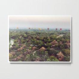 Hot Air Balloons in Bagan Metal Print