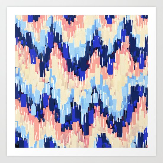 Rush (Blue) Art Print