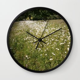 Path of Daisies Wall Clock