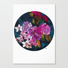 Purple Globes of Rhododendron  Canvas Print