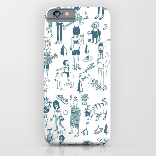 Crowd Pattern iPhone & iPod Case