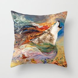 The spirit Wolf Abstract Throw Pillow