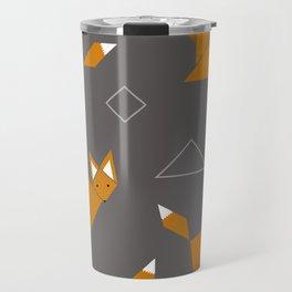 Boxy Foxy Tangram Foxes Travel Mug