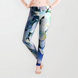 Soft Tri-Color Pastel Hydrangea Leggings
