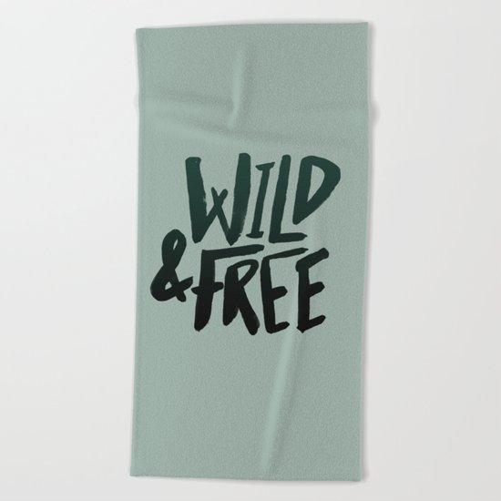 Wild & Free x Olive Green Beach Towel